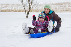 Sled Riding 2013-19 (TheDarrenSharp) Tags: winter evelyn mackie 3yearsold sledriding