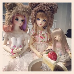 สุขสันต์วันเกิดคุณหมีดุร้ายยูกิซัง //ริซี่ทำท่าจะเคลมเค้กนะ | Happy birthday Yuki-san!