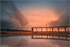 17122013-Mafrmcfa-08275.jpg (Mafr-Mcfa) Tags: barcelona espaa atardecer agua cielo estanque montaa porche nube catalua montjuic columnas