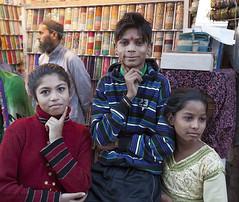 Children in Jaipur, India (JeffreyRoss) Tags: india kids children three kid market indian hindu jaipur