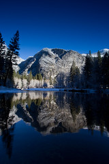 Reflections (markvcr) Tags: california winter mountain snow reflection tree ice ngc merced yosemite sierras powerofart slicesoftime sunrays5 inspiringcreativeminds