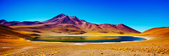 (Sunrider007) Tags: chile summer panorama lake mountains reflection water landscape volcano desert alpine atacama laguna altiplano miniques