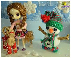 Lleg el invierno ( Natsumi333 ) Tags: nieve invierno fro cabra diorama nagisa muecodenieve dallizbel