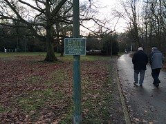 Trent Park (jovike) Tags: park people man tree sign leaf enfield cockfosters