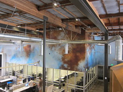 Museums, Artist Mungo Thompson at Google Offices, Mural