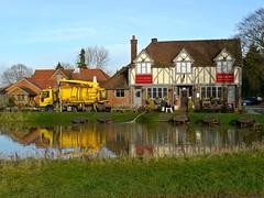 Cookham, Berkshire (cherington) Tags: england flooding unitedkingdom roadclosed berkshire riverthames thecrown publichouse thecauseway cookhammoor cookhamonthames peopletoplaces floodingincookham