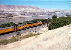 UP 6936 Biggs Or. (Flight Idle) Tags: oregon unionpacific passenger biggs columbiarivergorge railroadhistory unionpacificrailroad 6936