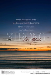 He is strong in you (jubileelewis) Tags: power beginning strong strength devotional ends