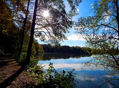 Glauchau Reservoir 2 // Stausee Glauchau (Caledoniafan) Tags: blue autumn trees sky oktober lake reflecti
