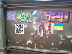STICKERZ (BOUCHE D'ÉGOUT) Tags: street urban streetart art colors collage ed sticker stickers bat dessin urbanart stick adhesive rue couleur ville bonk suede mca autocollant panneaux combo malin artiste fier 720 cros fenek mal1