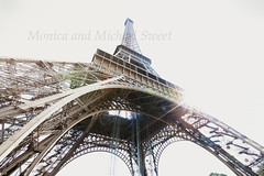 eiffel tower sun (*michael sweet*) Tags: travel paris france tower tourism europe eiffel iconic