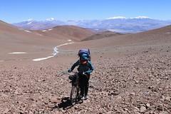 Nearing the 5650m pass on the push to Bonete