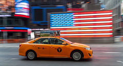 yellow cab (B L K) Tags: street new nyc usa newyork yellow canon state manhattan flag united yellowcab newyorker midtown timessquare tamron