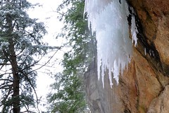 Hemlock Cliffs 2014 (Crumblin Down) Tags: snow ice beautiful forest frozen waterfall hiking snowy indiana canyon hike falls cliffs southern caves trail national freeze massive icy hemlock icicles magnificent stalactites stalagmites formations shelters hoosier ind