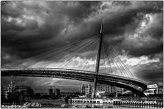 Sea bridge (ivano.dortenzio) Tags: city bridge blackandwhite bw italy black art architecture hdr