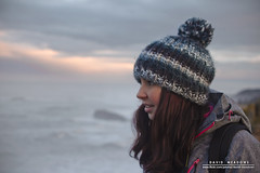 (DMeadows) Tags: sea portrait woman castle wool girl hat female coast scotland seaside candid north coastal wooly berwick bobble tantallon davidmeadows dmeadows davidameadows dameadows
