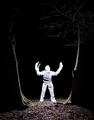 Light Mummy In The Woods (Andy Kent 100) Tags: light andy night canon dark kent woods paint photographic mummy society f28 1755 bromsgrove akphotographic wwwakphotographiccouk andykent100