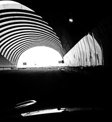 Toward the light (Orzaez212) Tags: bw motion highway tunnel bn caminos autopista contraste paths tunel accent filtro churriana iphone5 europeonflickr