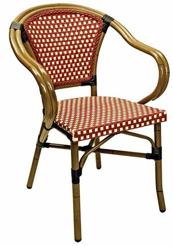 Aluminum Rattan Finish Frame Arm Chair