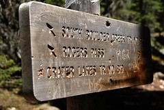 This way (Let Ideas Compete) Tags: wood mountain mountains sign rockies wooden colorado hike trail signage directions marker rockymountains engraved trailmarker thisway jamespeakwilderness