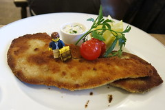 Travels of badger - Pan Fried Beef Tongue (enigmabadger) Tags: travel vacation munich mnchen bayern deutschland bavaria europe lego fig eu german minifig custom printed bavarian minifigure brickarms