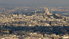 Montmartre from above (NykO18) Tags: sunset paris france building art monument animal architecture dawn opera europe ledefrance cathedral basilica faith religion montmartre cupola dome manmade housing tourmontparnasse montparnassetower basiliquedusacrcurdemontmartre basilicaofthesacredheartofjesusofparis