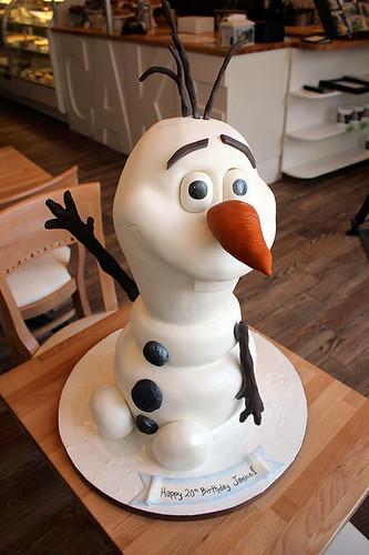 Olaf Snowman Cake