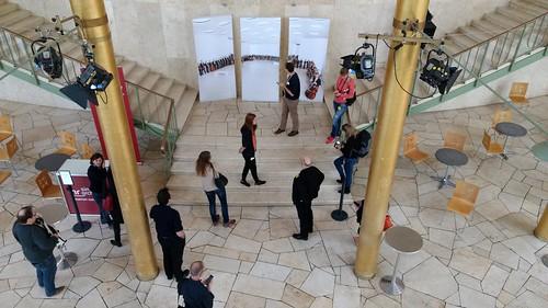 Goldhalle - Denkmalgeschütztes Foyer des HR-Rundbaus