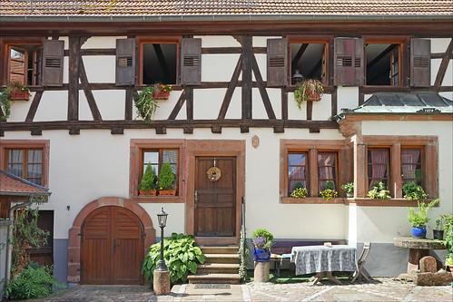 La vieille ville d'Oberbronn (Alsace)