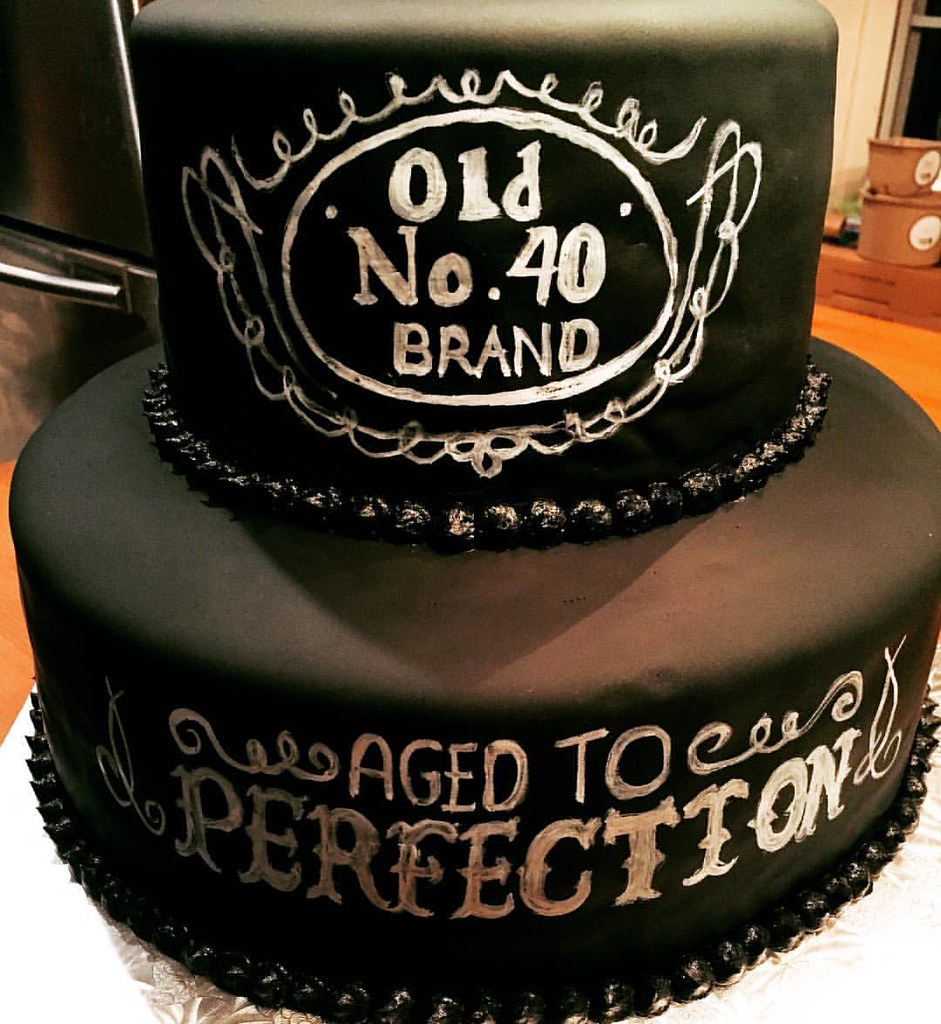 A Fun Birthday Cake For Special Guy Turning 40 Double Chocolate With Fondant