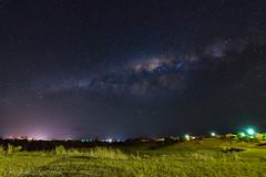 FreddoMilkyWay (Photography By Tara Gowen) Tags: milkyway stars lights town longexposure australia southernsky night blue dark taragowen photographybytaragowen