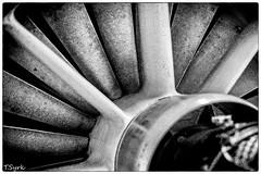 Triebwerk / jet engine (tomsyrk) Tags: triebwerk power flugzeug turbine mono monochrome monochrom schwarzweiss blackandwhite blacknwhite blackwhite noiretblanc blancoynegro bw sw technik museum detail makro macro fliegen airplane plane engine