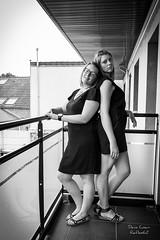 L'amiti, c'est pour la vie ! (deniscoeur) Tags: personne personnage portrait whiteblack appartement balcon urbain terrasse lumire lumiredujour lumirenaturelle canon70d f3556 1855stm