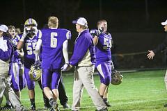 591A2235.jpg (mikehumphrey2006) Tags: football101416polsonvarsitynoahcolumbiafalls sports action football coach win hit run catch punt varsity polson montana