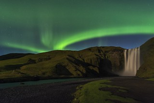 Northern Lights at Skogafoss