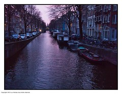 Night Canal (Look_More) Tags: amsterdam canal event holidays landscape netherlands nightshots places street streetshots travel urban water