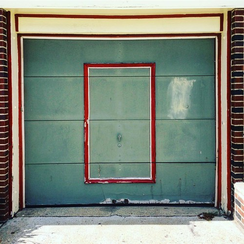 From my saturday bike ride. #garagedoor #door