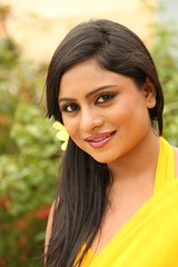South Actress Deepika Das Hot in Yellow Sari Photos Set-2 (7)