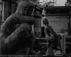 (C-47) Tags: black statues sad emotion laugh cemetery graves stone architecture creativity france paris timeless grin grinning malicious smile sadness melancholy posing white dark tombs canon eos 400d 18200mm eternity poetry motionless nice mocking