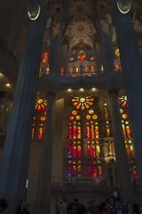 NH0A3908s (michael.soukup) Tags: barcelona sagradafamlia sagrada familia basilica church stainedglass color colorful windows nave interior gaudi churchoftheholyfamily catholicchurch artnouveau architecture neogothic spain catalonia