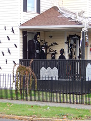 Crow God side view (Morganthorn) Tags: halloween haunted house spooky creepy skeleton spider ghost ghoul zombie horror