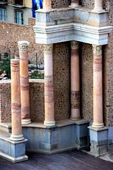 Colunas mrmore rosa (Vera Schuck Paim) Tags: teatro romano ruinas em cartagena espanha spain runa romanas colunas mrmore rosa jardins caminhos reconstruoes