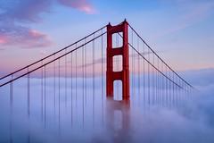 Golden Gate & Clouds (Lus Henrique Boucault) Tags: bridge clouds eua goldengatebridge landscape longexposure northamerica sausalito sunrise sunset travel traveling unitedstates usa vacation california estadosunidos us