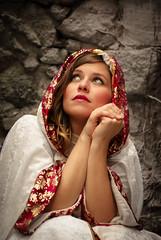 I'll pray for you (David Bovet) Tags: woman pray alone fall hood stone sad