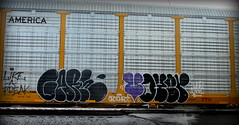 gare - voyer (timetomakethepasta) Tags: gare voyer dlr like freak crotch rot freight train graffiti art autorack up union pacific building america