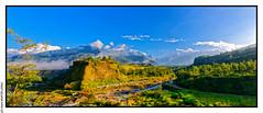 Annapurna range from Ghachok (1250m) (L'Abominable Homme de Rires) Tags: nepal himalaya atalante trek annapurna annapurnasud mardihimal hiunchuli machhapuchhre annapurnaii lamjung annapurnaiii annapurnaiv montagne montain landscape ghachok