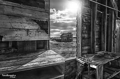 General Store - BW (Pat Kavanagh) Tags: bents saskatchewan ghosttown prairies prairie flatlanders landscapes panorama hdr highdynamicrange