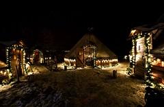 7 (Sergio Eschini) Tags: tromso viaggio travel norvegia normay snow december inverno winter crepuscolo natura landscape neve notte night lights villaggio capanno