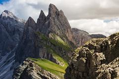Layers (Massimiliano Teodori) Tags: alpi dolomiti seceda valgardena landscape mountain peaks sassrigais canon 6d tamron tamron70300vcusd sdtirol sudtirolo tirolo odle fermeda furchetta
