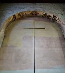 The cross (Tiigra) Tags: paris france fr 2016 architdetail church interior painting ruin shape ledefrance